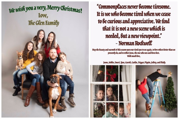Glen Family Christmas Card 2018